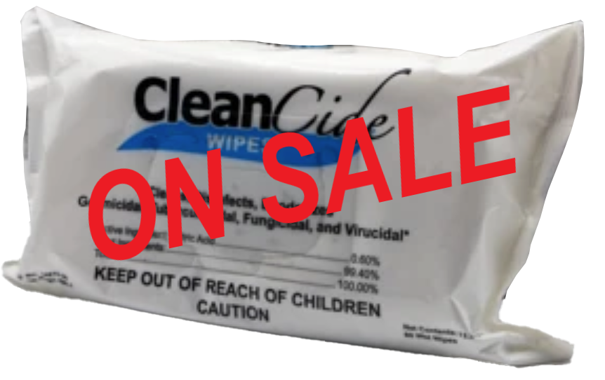CLEANCIDE WIPE 12/80